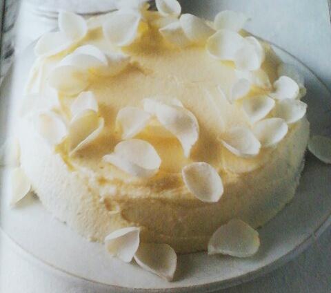 Witte chocoladecake metmascarpone