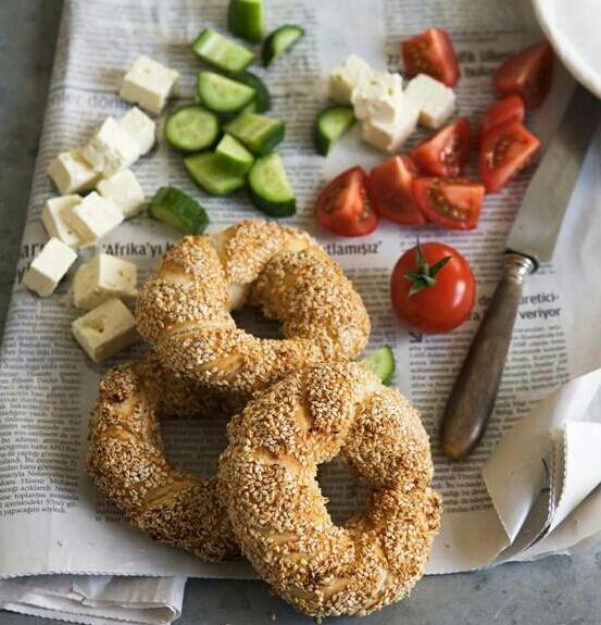 Dé bagel uit Turkije,Simit