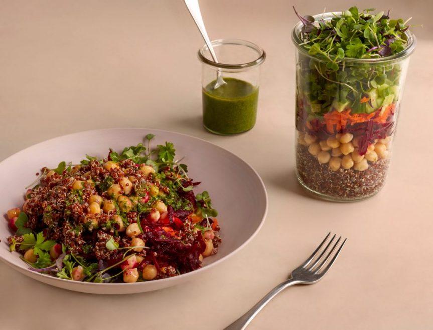 Gezonde quinoa salade